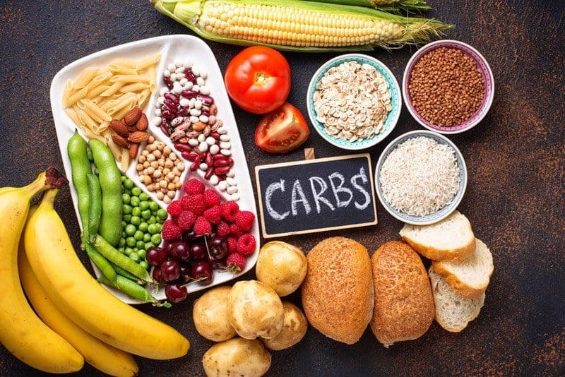 colorful healthy carbs to eat and lose weight