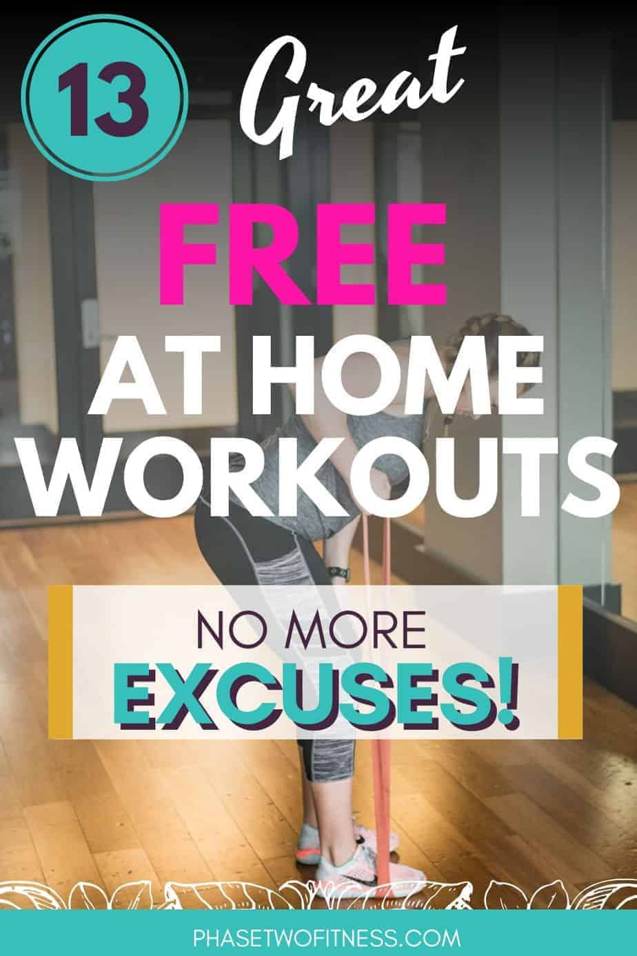 13 free at home workouts pin