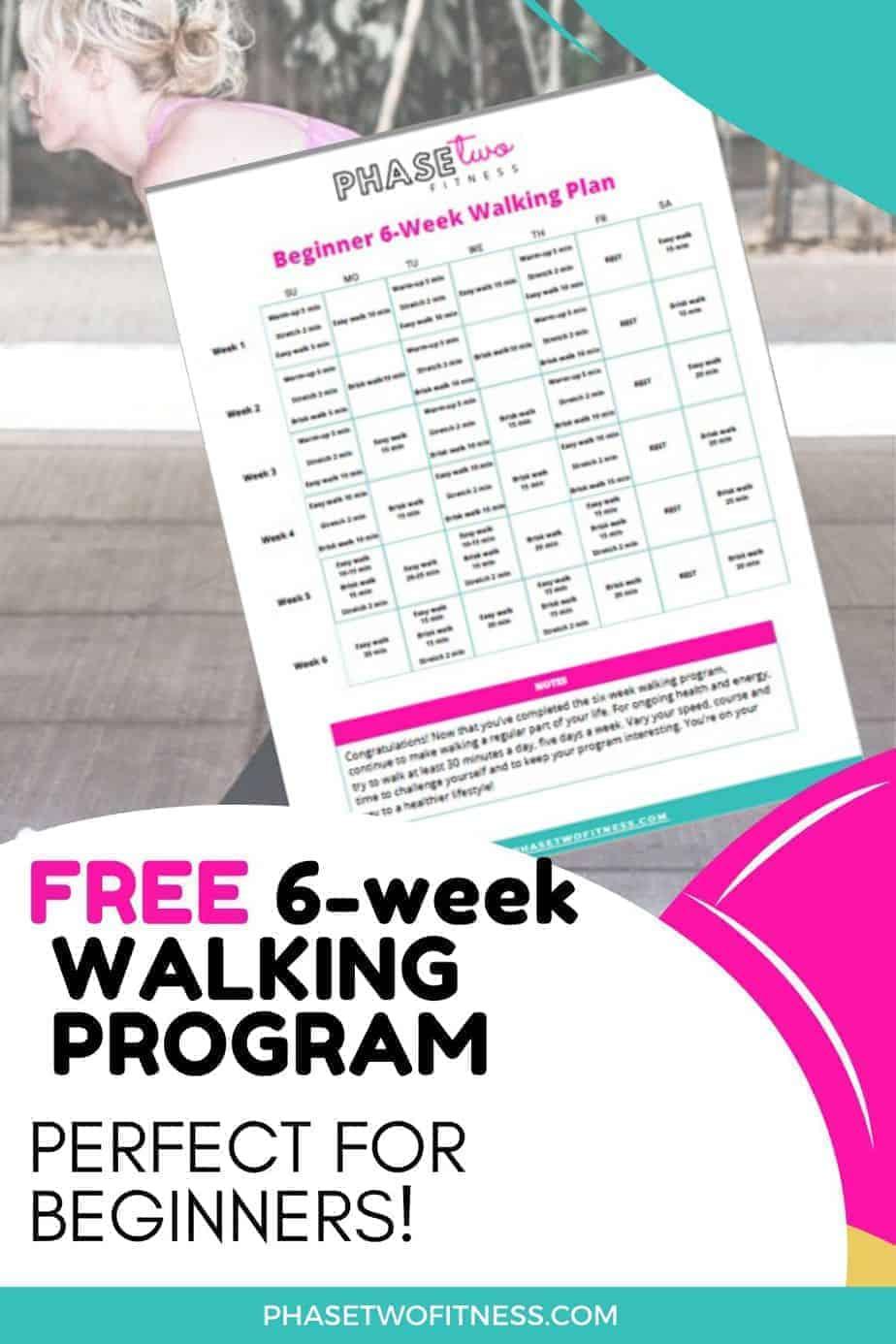 Walking plan pin freebie