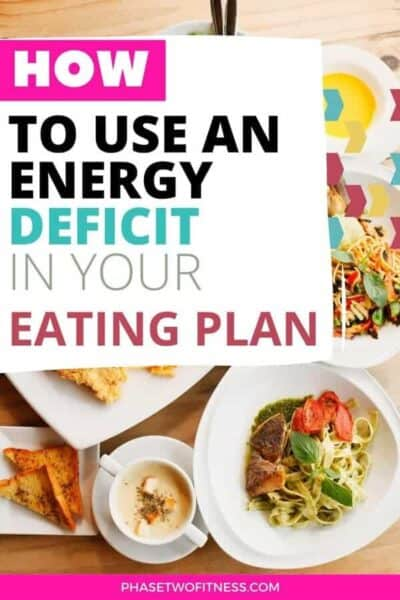 how to use an energy deficit in your eating plan